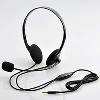 4極ヘッドセットマイクロフォン/両耳小型オーバーヘッド/1.8m/ブラック [HS-HP22TBK]